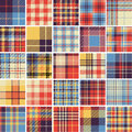 Big set of seamless tartan patterns Royalty Free Stock Photo