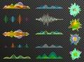 Big set of sound waves