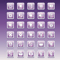 Big set of square buttons with different glamorous image for the user interface and web design Royalty Free Stock Photo
