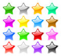 Big set of star-shape buttons Stock Photo