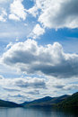 Big sky and loch tay Royalty Free Stock Photos