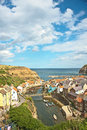 Big sky at Staithes Royalty Free Stock Photo