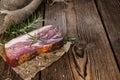 Big slice of smoked Ham Royalty Free Stock Photo