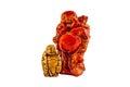 Big and small Budai Hotei netsukes Royalty Free Stock Photo