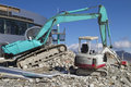 Big and small excavator Stock Image