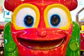 Big smiley face in game arcade Royalty Free Stock Images