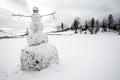 A big snowman Royalty Free Stock Photo