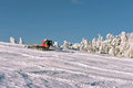Big snowplow at the ski slope Royalty Free Stock Photo