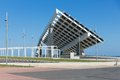Big solar panel at barcelona spain harbor of Stock Photography