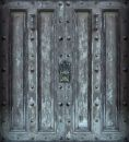 Big solid iron door Royalty Free Stock Photography