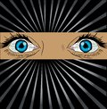 Big spy eyes vector Royalty Free Stock Photo