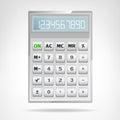 Big Square Metallic Calculator...