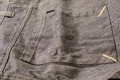 Image : Big square pocket from grey pants silver  two