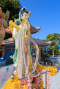 Big standing guan yin in thailand Royalty Free Stock Photo
