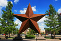 Big star landmark with Explosion zoom at Austin Royalty Free Stock Photo