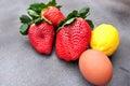 Big strawberries giant size Royalty Free Stock Photo