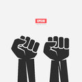 Big strong clenched fist icon Royalty Free Stock Photo