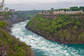 Big strong river stream in canyon and cloudy weather Royalty Free Stock Photography