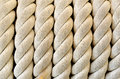 Big and strong rope on boat Royalty Free Stock Photo