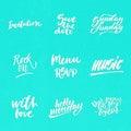 Big summer lettering set