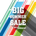 Big summer sale banner design Royalty Free Stock Photo