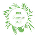 Big Summer Sale Banner. Royalty Free Stock Photo