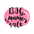 Big summer sale. Brush lettering. Royalty Free Stock Photo