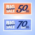 Big Summer Sale cards. Royalty Free Stock Photo