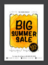 Big Summer Sale Flyer or Banner. Royalty Free Stock Photo