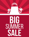 Big summer sale poster Royalty Free Stock Photo