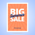 Big Summer Sale poster. Royalty Free Stock Photo