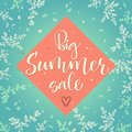Big summer sale vector colour calligraphy