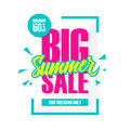Big Summer Sale. This weekend special offer banner, discount 50% off. Royalty Free Stock Photo