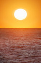 Big sun on the sea Royalty Free Stock Photo