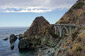 Big sur bridge along pacific coast highway Royalty Free Stock Photos