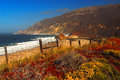 Big sur and california beach on the west coast Royalty Free Stock Photos
