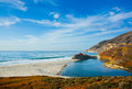 Big sur california beautiful coast in central Stock Photo