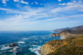 Big sur california beautiful coast in central Royalty Free Stock Image