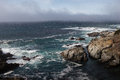 Big sur california and and the rocky shoreline and cliffs Royalty Free Stock Photography