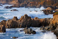 Big sur coastline waves crashing along california Royalty Free Stock Photos