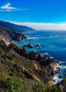Big Sur Rocky Coast in California Royalty Free Stock Photo