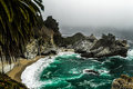 Big sur s emerald oaza mcway falls is an incredibly scenic waterfall in julia pfeiffer burns state park monterey county creek Royalty Free Stock Photo