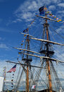 Big tall ship a two mast under blue sky in the harbour of hamilton ontario canada Stock Photos