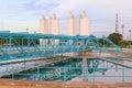 Big tank of water supply in metropolitan waterwork s industry pl