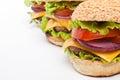 Big tasty  cheeseburgers Royalty Free Stock Photo