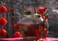 The big teapot during temple fair beijing china Stock Photography
