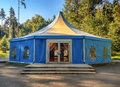 Big tent in the forest Royalty Free Stock Photo
