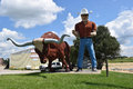 Big tex and steer statue of a a cowboy Royalty Free Stock Photo