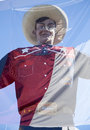 Big tex and texas state flag at fair tx usa Royalty Free Stock Photos