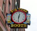 Big time boots nashville tennessee is a clothing apparel and boot store located in downtown on broadway street founded in it is a Royalty Free Stock Image